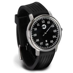 The One Handed Watch - Hammacher Schlemmer - This is the minimalist watch that displays the time using only one hand. Instead of a separate minute hand, the intriguing accessory has 144 markers on its dial that break down each hour into five-minute increments.