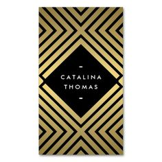 Retro Mod Bold Black and Gold Pattern Customizable Business Card for Boutiques, Fashion Stylists, Bloggers, Interior Designers, Etsy Sellers and more. Personalize the front and back with your own info. Printed on high quality card stock. Fast shipping.