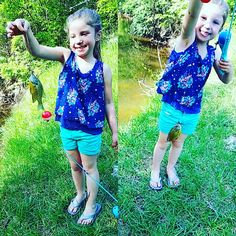 From the other day 🎣🎣 alaina loves fishing.