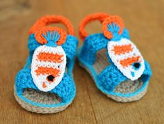 A Must for all Nemo and Dory Fans! NEW PATTERN Crochet Pattern Baby Sandals with by matildasmeadow