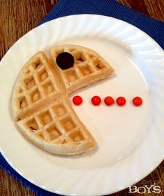 These easy PacMan Waffles will be a hit with kids and adults alike. They are easy to make with little to no effort involved.