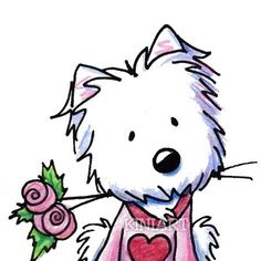 Westie Terrier Dog Breed ORIGINAL Art