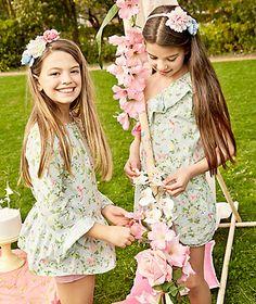 Macacão assimétrico com estampado floral Macacão Menina Kids (2-6 anos) | LANIDOR.COM - Mobile Shop Online