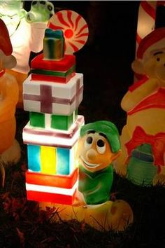 Blow Mold Nativity Set in Montgomery Ward Christmas ...