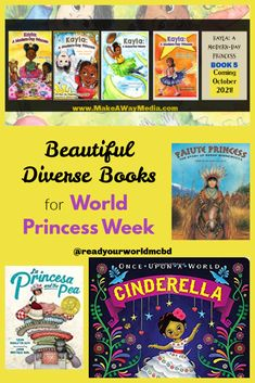 Beautiful Diverse Books for World Princess Week - Multicultural Children's Book Day Sponsorship Levels, All Disney Princesses, Princess And The Pea, Book Themes, Book Publishing, Book Lists, Book Series, Childrens Books, Kids