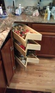 I like this better than the lazy Susan cupboard, stuff is always getting knocked over and blocking the rotation,