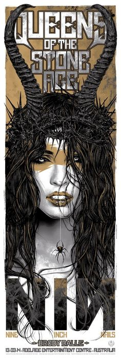 Cool Art: 'Queens Of The Stone Age' / 'Nine Inch Nails' AustralianTour Poster (Adelaide) by Rhys Cooper