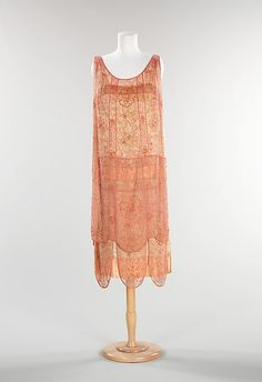 Evening dress     French     c 1926