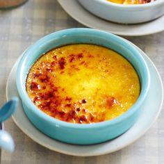 Crème brûlée mit Vanille und Safran
