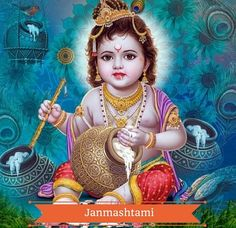 Lord Krishna is considered a manifest form of God, or avatar. In the Hindu religion.To make one's life easier and happier Krishna bestow his blessings upon the devotees with grace. Baby Krishna, Little Krishna, Krishna Leela, Jai Shree Krishna, Cute Krishna, Krishna Art, Radhe Krishna, Hanuman, Durga