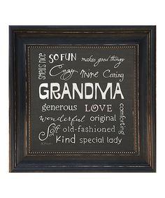 This 'Grandma' Adjectives Framed Wall Art by Karen's Art & Frame is perfect! #zulilyfinds
