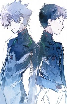 Neon Genesis Evangelion \\ 新世紀エヴァンゲリオン \\ Shinseiki #Evangelion - - - Shinji and Kawrou