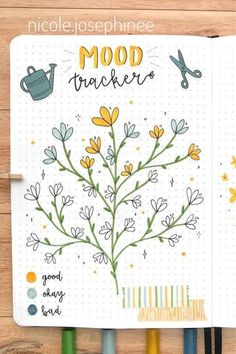 20 Adorable April Mood Tracker Ideas For Your Bujo - Crazy Laura - - Starting a new month in your bullet journal and need some theme ideas? Check out these adorable April mood tracker examples for inspiration! Bullet Journal Tracker Ideas, Bullet Journal Designs, Bullet Journal Mood Tracker Ideas, April Bullet Journal, Bullet Journal Cover Ideas, Bullet Journal Notebook, Bullet Journal Aesthetic, Bullet Journal Spread, Bullet Journal Layout