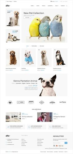 Alto is a clean and elegant design responsive #HTML bootstrap template for #pets shop stunning #eCommerce website with 13+ unique homepage layouts download now➩  https://themeforest.net/item/alto-minimalist-ecommerce-template/19490275?ref=Datasata