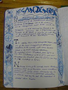 Waldorf ~ 4th grade ~ Norse Mythology ~ Scandinavia ~ main lesson book