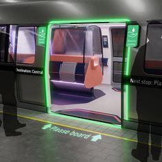 Tangerine Unveils 'Metamorphosis' Design Concept for Metro Travel Post Covid