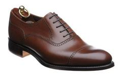 Loake Ledbury rubber-soled semi-brogues in brown calf from Herring Shoes Rock The Casbah, Brogues, Leather Men, Oxford Shoes, Dress Shoes, Lace Up, Footwear, Brown, Toe