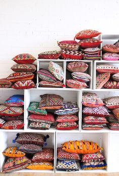 Bohemian kilim pillows, from Baba Souk