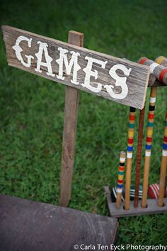 Games sign - DIY