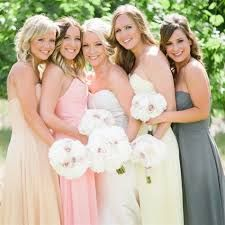 bridesmaids all in different dresses - Google Search