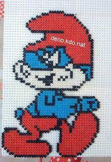 pixel art schtroumpf