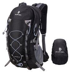Fafada Hiking Rucksack Unisex 40L 35L 25L Waterproof Backpack Hiking Rucksack Travelling Bag Burdock Backpack with Rain Cover black: Amazon.de: Luggage