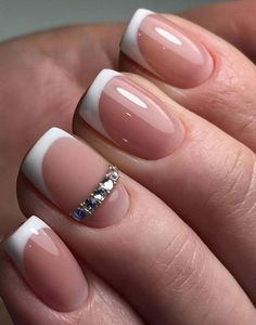 matte color of the nail always will nicely stand some shiny detail