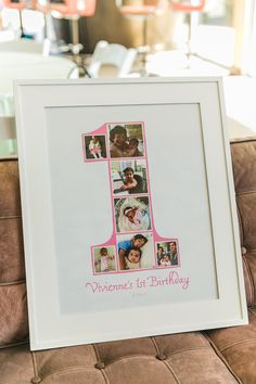 First Birthday Photo Collage Number One - adorable idea for the first birthday that can be replicated year after year!