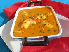 Spanish Food, Spanish Recipes, Canapes, Flan, Thai Red Curry, Creme, Seafood, Food And Drink, Cooking