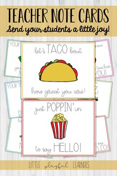Need a way to build connections with your students in this time of distance learning? These adorably pun-ny notes are great for elementary students, middle school students, and even high schoolers! They come in postcard size or half-fold size, both in color and black & white.  Print them on card stock, write a little message, and send them off. Guaranteed to make your students smile! Science Classroom, Teaching Science, Teaching Tools, Science Experiments, Teacher Notes, School Teacher, 1st Grade Science, Instructional Coaching, Classroom Community