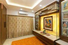 Fabric Curtain in Pujaroom