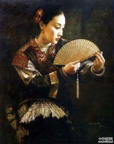 Zhao Kailin | Tema da Pintura: Contemporâneos Chineses! | Artes & Humor de Mulher