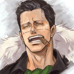 wait a min.oh my Croco ♥♥♥♥♥♥♥ One Piece Manga, One Piece Comic, One Piece Fanart, Naruto Uzumaki, Boruto, Anime Manga, Anime Guys, Sir Crocodile, One Peace
