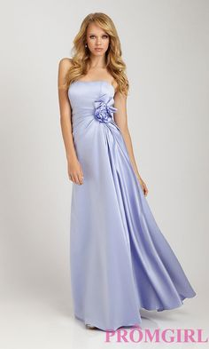 Long Ruched Waist Dress by Allure Bridesmaid