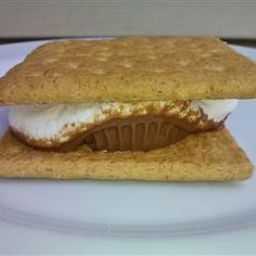 Peanut Butter Cup Smore Recipe - Allrecipes.com
