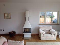 Contura450 in white. #contura #white#woodstove#newbuild#warm