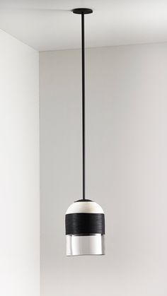 Black and natural Indi shade,  Articolo black rod and fittings