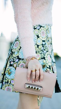 pastel and prints= love!