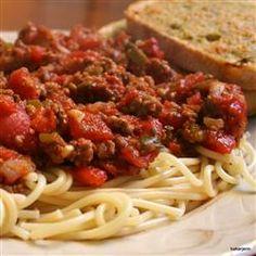 Lots O'Veggies Sausage Spaghetti Sauce Allrecipes.com- made my own ...