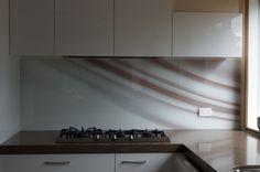 Printed Glass Splashback created by Seein Kitchen Dining, Kitchen Cabinets, Kitchen Sinks, Printed Glass Splashbacks, Glass Installation, Custom Design, Mirror, Interior Design, Prints