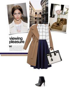 """Blue skirt"" by bogira on Polyvore"