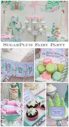 Gorgeous Nutcracker Sugarplum Fairy girl birthday with amazing desserts, perfect for a Christmas birthday! See more party ideas at CatchMyParty.com. #nutcracker #sugarplumfairy #birthday #desserts