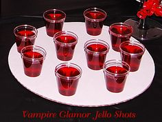 Vampire Glamor Jello Shots - Party ideas