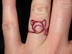 Wire Wrapped Pig MADE to ORDER Adjustable Ring by 1ofAkinds