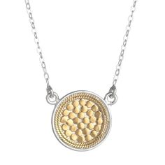 Anna Beck Reversible Disc Necklace in 18K Plated Gold and Sterling Silver