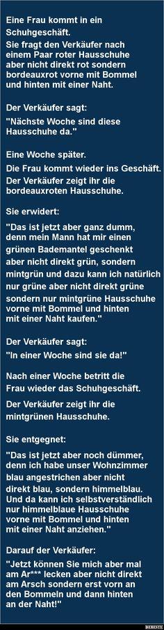 Eine Frau kommt in ein Schuhgeschäft | DEBESTE.de, Lustige Bilder, Sprüche, Witze und Videos