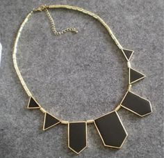 Geometric Black Box Necklace #Necklace