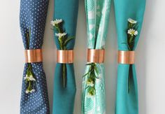 Quick and Simple DIY Copper Napkin Rings  | TheKnot.com