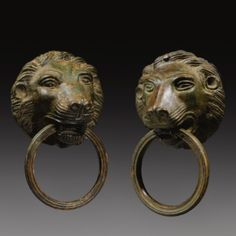 Two Bronze Leonine Masks, Late Roman or Byzantine, circa Century A. Ancient Rome, Ancient Art, Ancient History, Roman Artifacts, Museum Studies, Archaeological Finds, Roman Empire, Byzantine, Modern Art