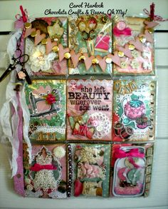 Chocolate Crafts and Bears, Oh My: Sewing Themed Pocket Letter Swap